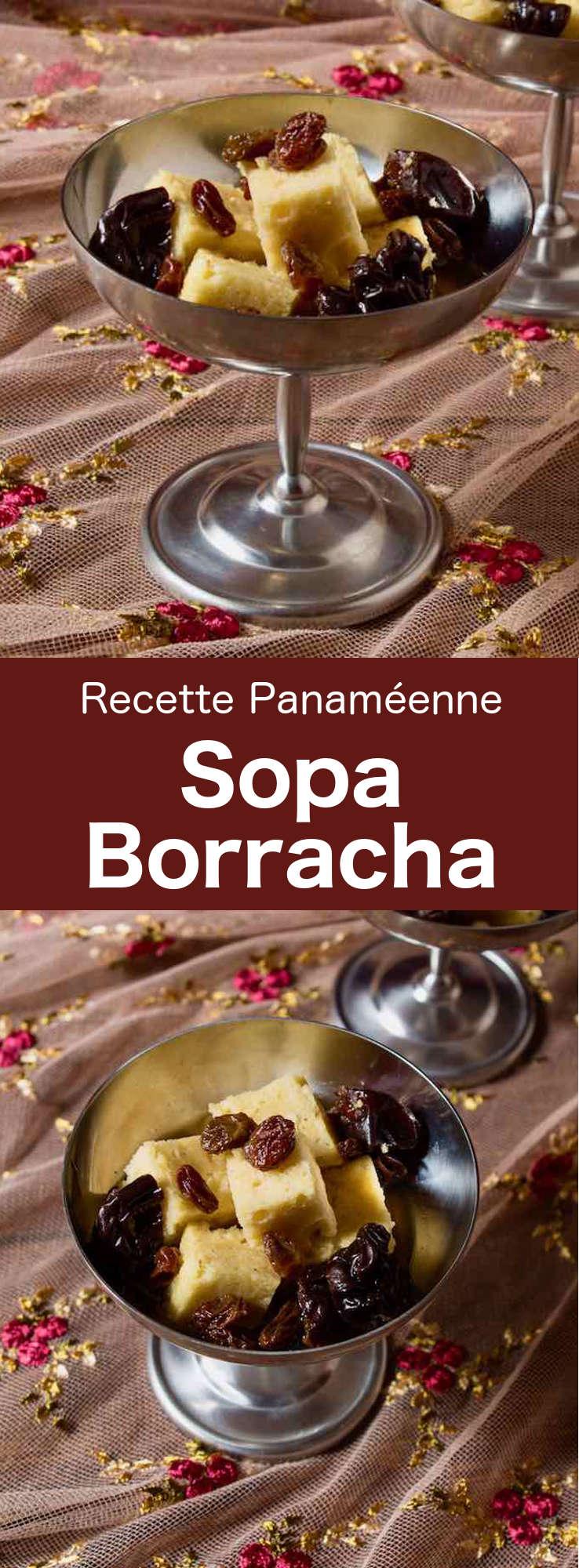 La sopa borracha est un délicieux gâteau traditionnel du Panama qui consiste en une génoise imbibée d'un sirop épicé de rhum et de xérès. #Panama #CuisinePanameenne #AmeriqueCentrale #CuisineDuMonde #196flavors