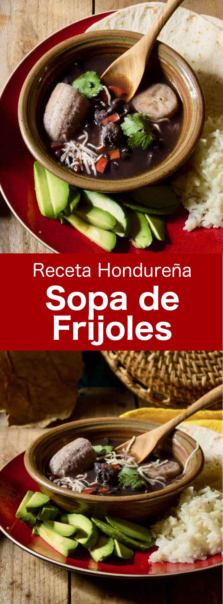 La sopa de frijoles es una deliciosa sopa de frijoles negros tradicional de Honduras que, generalmente, se prepara con chicharrones o costillas de cerdo pequeñas.