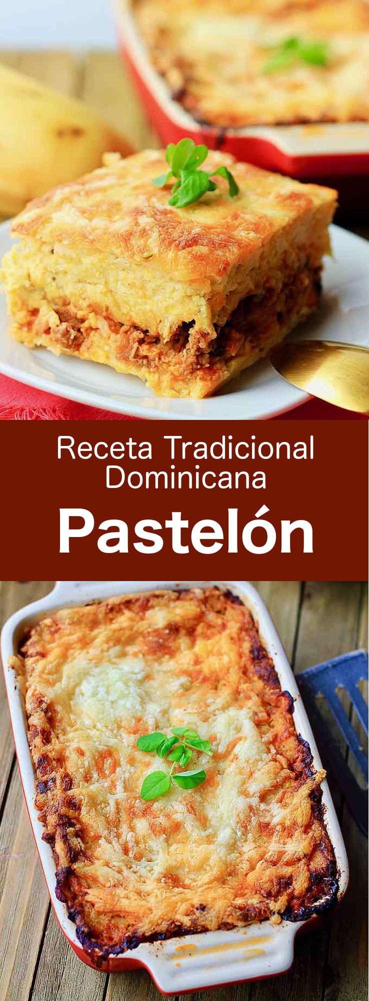 El pastelón de plátano maduro es un plato de la República Dominicana compuesto de plátanos, carne molida, queso y hierbas, que es popular en el Caribe. #RepublicaDominica #RecetaDominica #196flavors