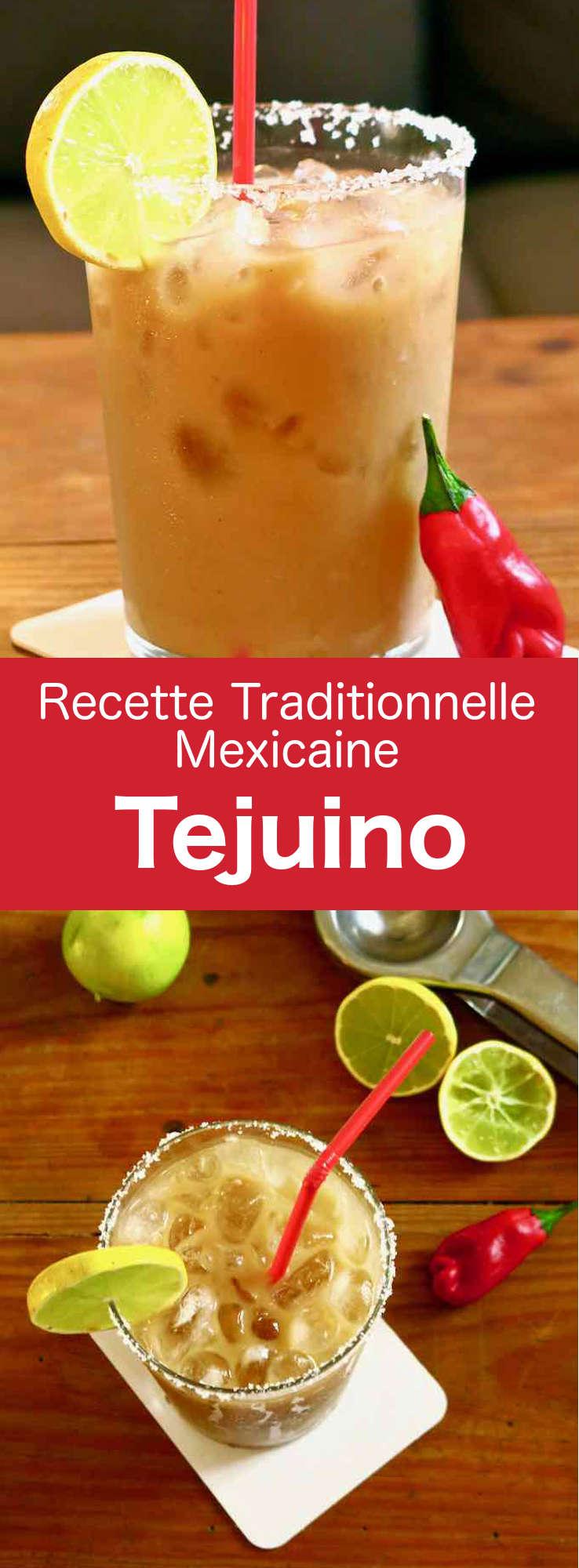 Le tejuino est une délicieuse boisson fermentée mexicaine préparée avec une pâte de maïs (masa) mélangée à de l'eau, du piloncillo et du citron vert. #Mexique #RecetteMexicaine #CuisineDuMonde #196flavors