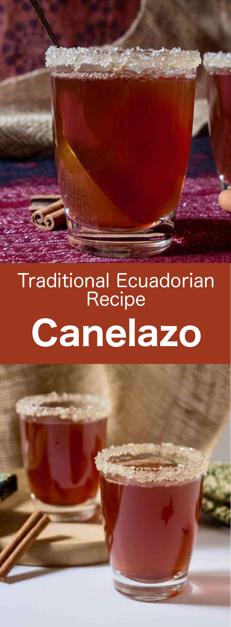 Canelazo is a spiced alcoholic beverage based on aguardiente, that is consumed in the mountainous regions of Ecuador, Colombia and northern Argentina. #Ecuador #EcuadorFood #EcuadorianCuisine #EcuadorianRecipe #WorldCuisine #196flavors