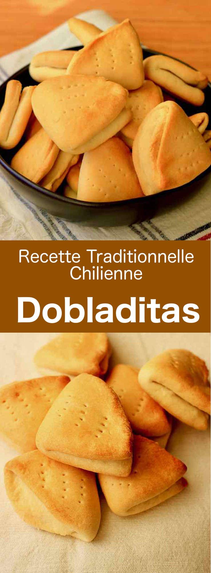 Les dobladitas sont de petits pains traditionnels chilien sans levain qui se préparent avec une petite quantité de levure chimique. #Chili #RecetteChilienne #CuisineChilienne #CuisineDuMonde #196flavors