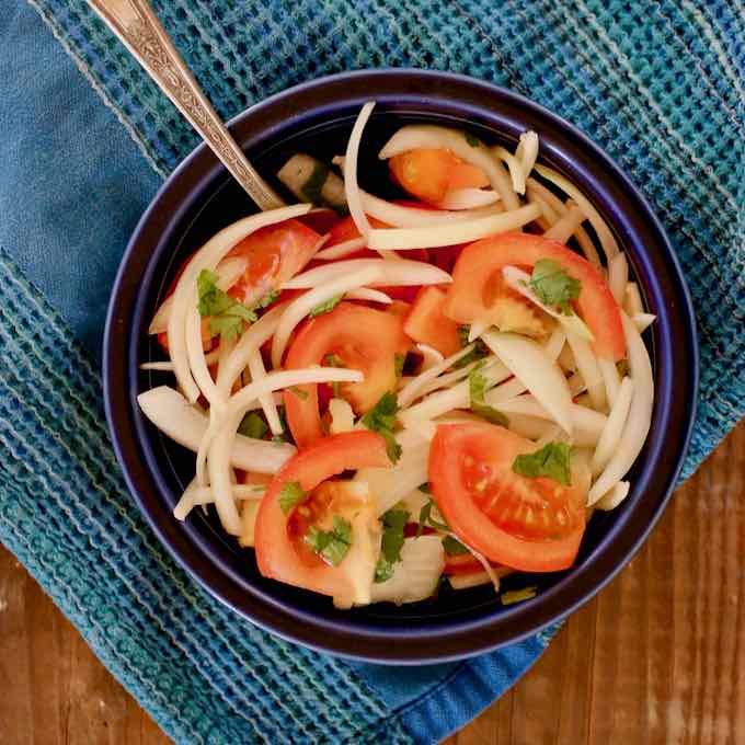 Diät-Surimi-Salat