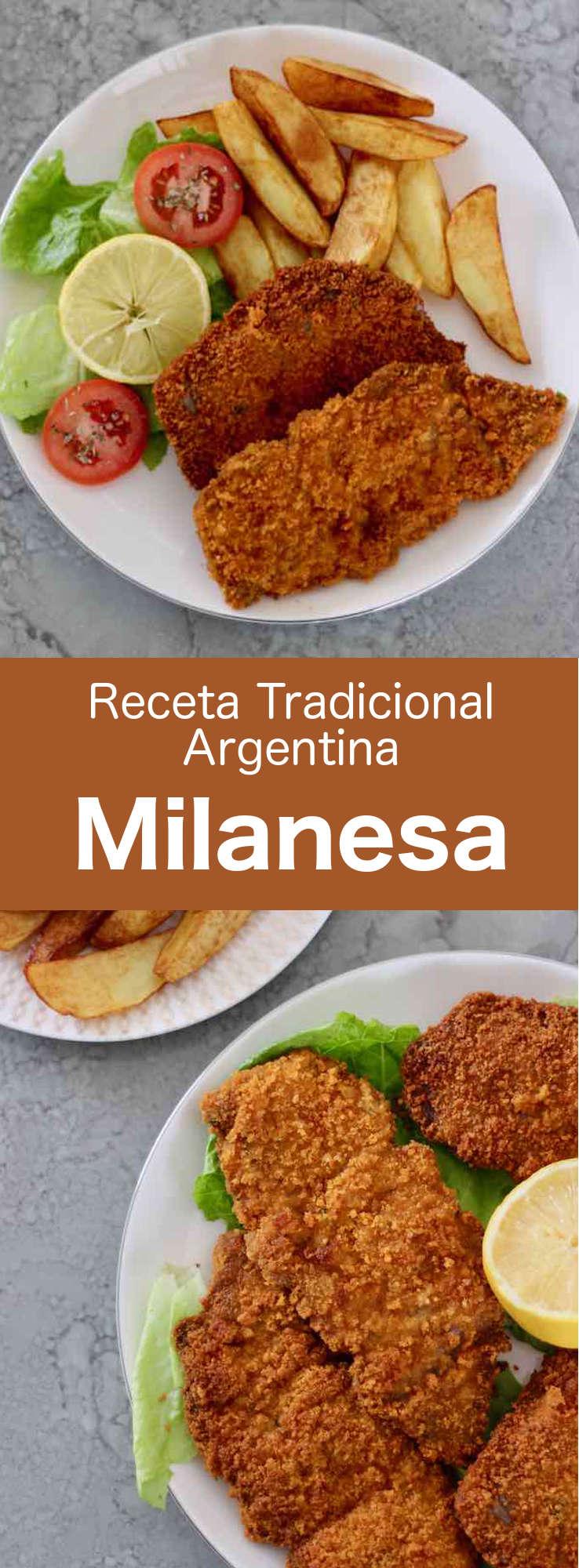 La milanesa argentina es una rebanada de carne empanada y frita, un clásico de la cocina sudamericana y una variante del famoso plato italiano de milanesa de ternera.