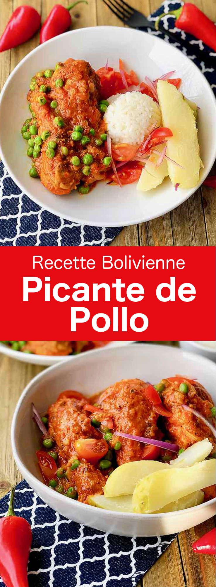 Le picante de pollo est un des plats les plus traditionnels boliviens. La principale caractéristique de ce plat de poulet en sauce est son piquant intense. #Bolivie #RecetteBolivienne #CuisineBolivienne #CuisineDuMonde #196flavors