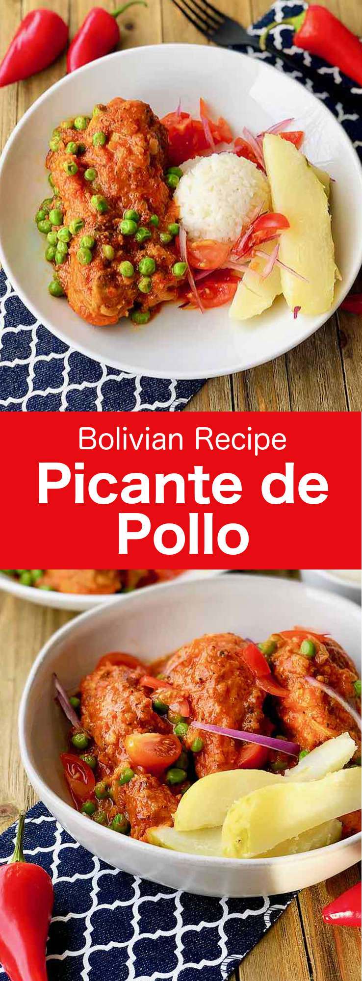 Picante de pollo is one of the most traditional Bolivian dishes. The main characteristic of this dish of chicken in sauce is its intense spiciness. #Bolivia #BolivianCuisine #BolivianFood #BolivianRecipe #WorldCuisine #196flavors