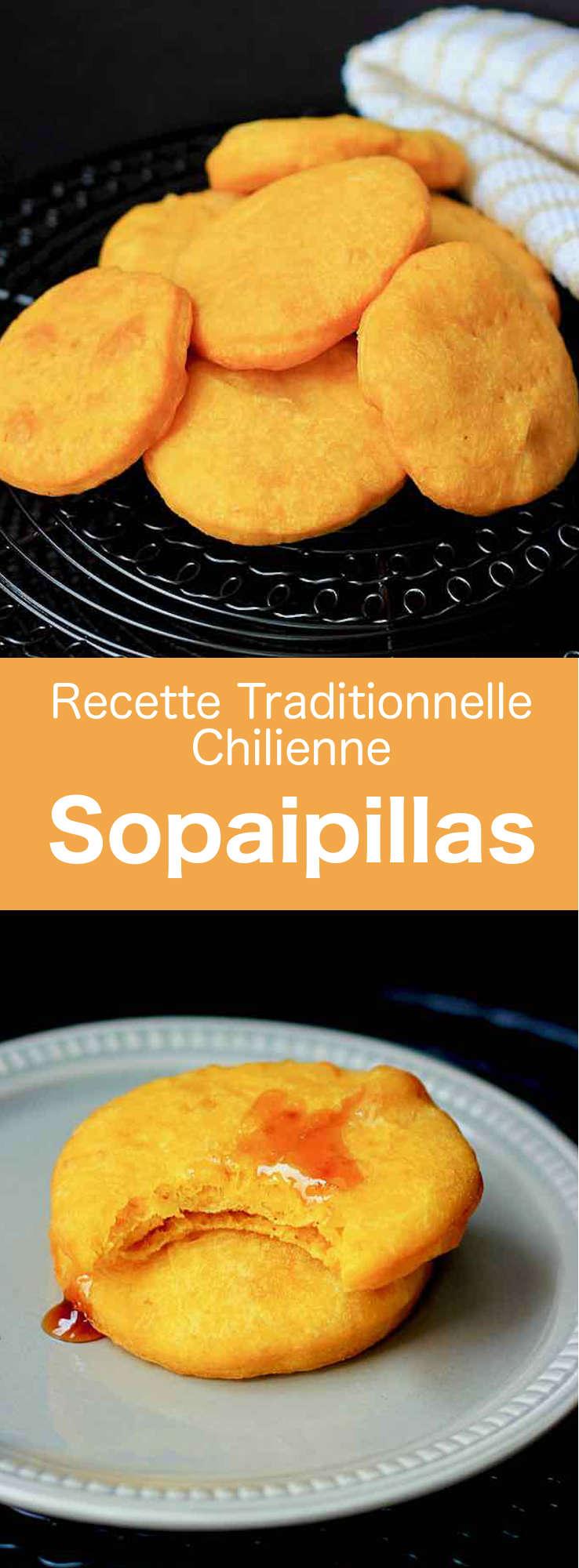 Les sopaipillas (sopapillas, sopaipas ou encore cachangas), sont des tortillas de farine de blé à base de potiron, frites dans de l'huile ou du beurre. #Chili #RecetteChilienne #CuisineChilienne #CuisineDuMonde #196flavors