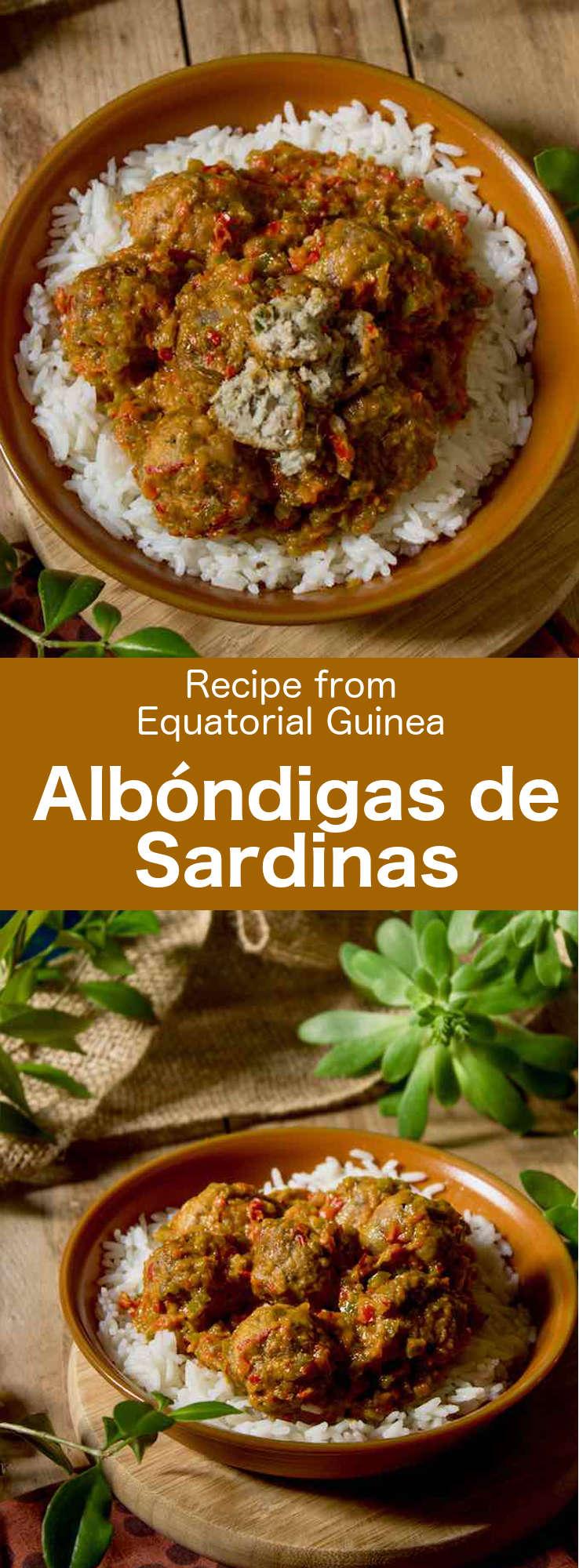 Albóndigas de sardinas are delicious traditional fish dumplings prepared with sardines that are popular in Equatorial Guinea. #EquatorialGuinea #AfricanCuisine #AfricanRecipe #WorldCuisine #196flavors
