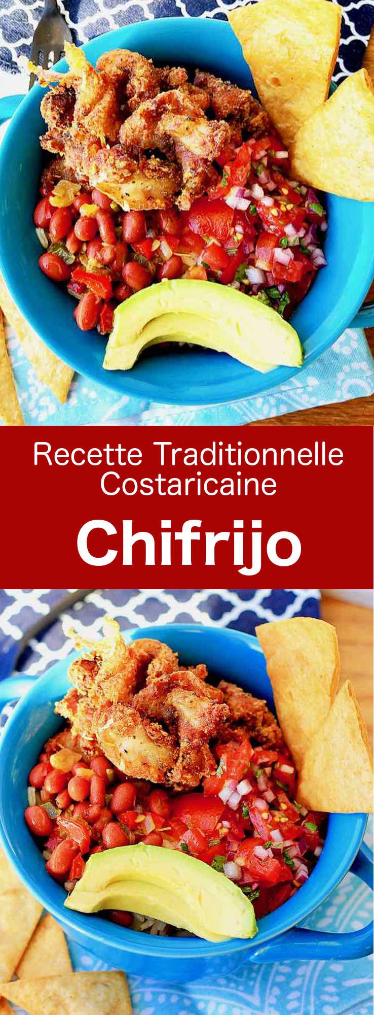 Le chifrijo est un délicieux plat traditionnel du Costa Rica à base de frijoles et couenne de porc, le tout accompagné de pico de gallo et de riz. #CostaRica #RecetteCostaricaine #CuisineCostaRicaine #CuisineDuMonde #196flavors