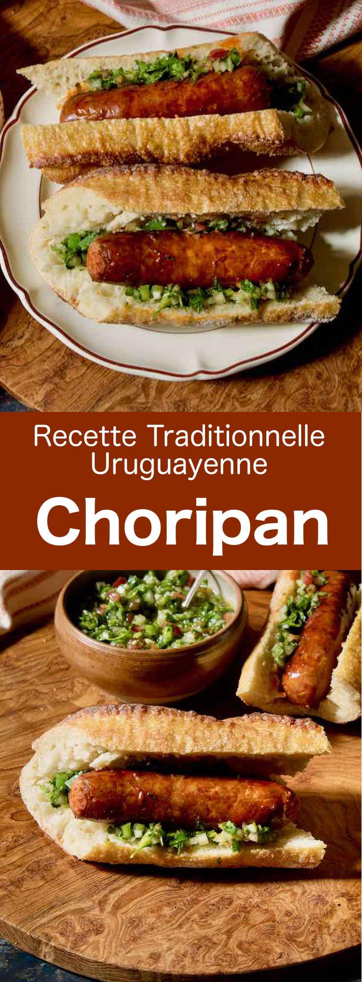 Le choripán est un délicieux sandwich à base de chorizo et de sauce chimichurri populaire en Uruguay, en Argentine, et au Chili. #Uruguay #Argentine #Chili #RecetteUruguayenne #RecetteArgentine #RecetteChilienne #CuisineUruguayenne #CuisineArgentine #CuisineChilienne #WorldCuisine #196flavors