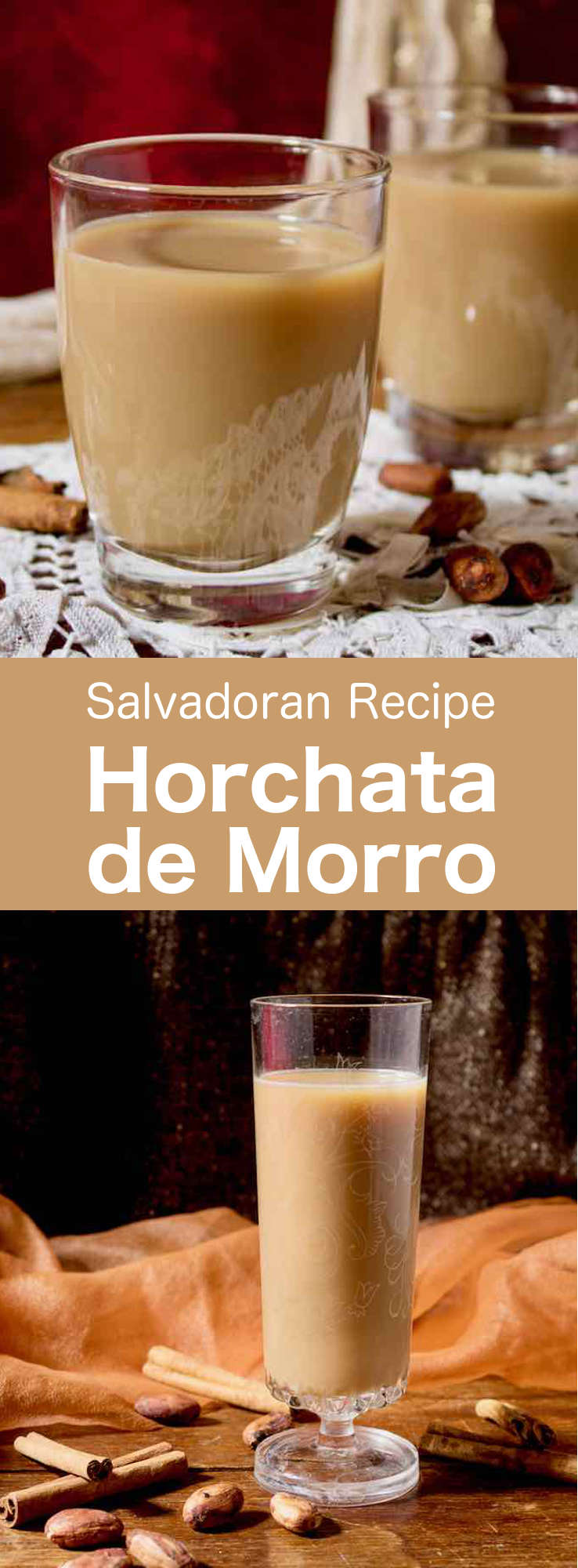 Horchata de morro is a popular Salvadoran drink made from a blend of spices and seeds such as morro, cocoa, sesame, peanut and others. #CentralAmericanCuisine #CentralAmericanRecipe #SalvadoranCuisine #SalvadoranRecipe #WorldCuisine #196flavors