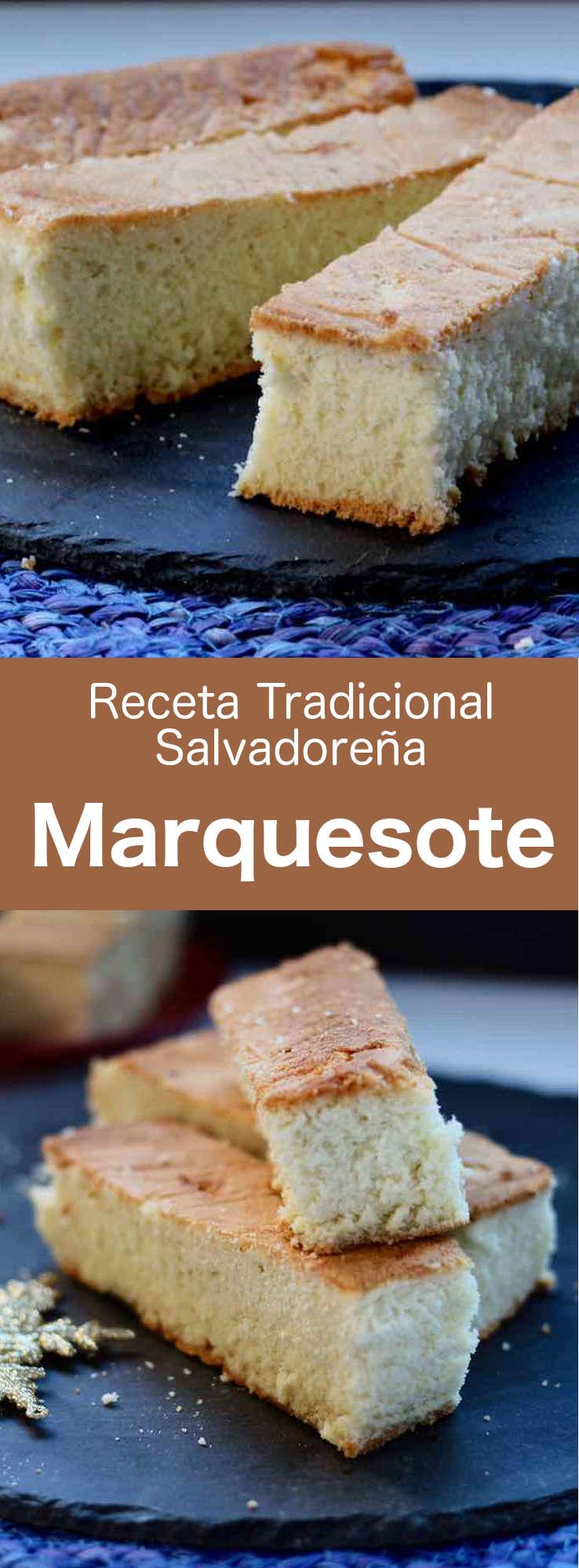 El marquesote es un pastel parecido a un bizcocho genovés tradicional, típico de El Salvador, pero también de México y Honduras.