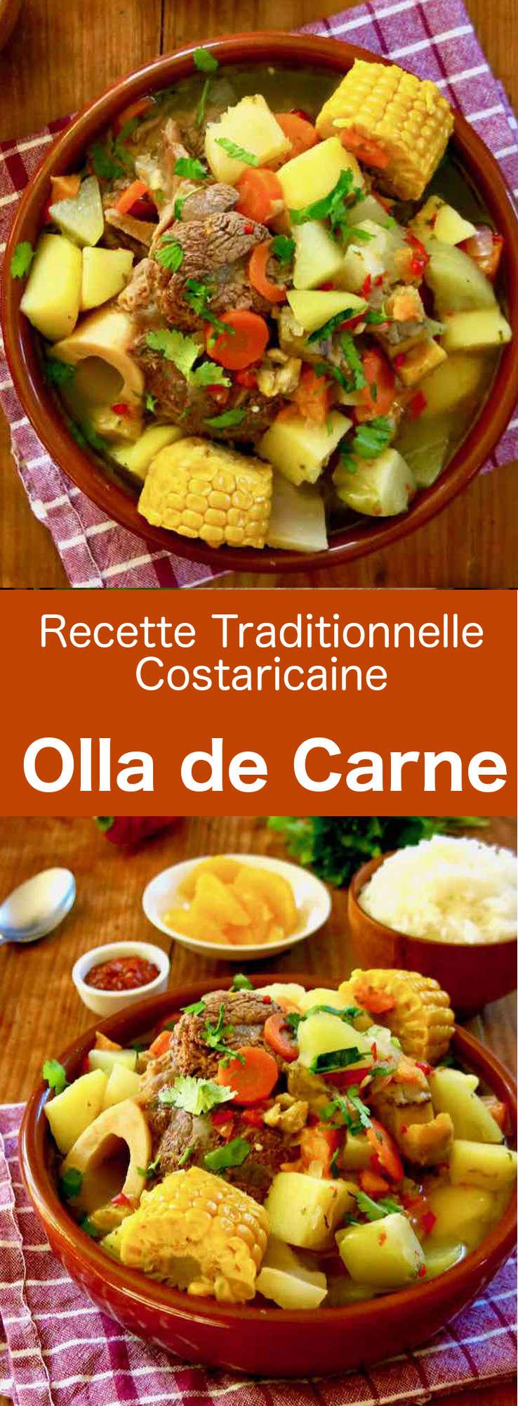 La olla de carne (marmite de viande) est un des fleurons de la cuisine costaricaine, à base de bœuf, de pommes de terre et autres légumes longuement mijotés. #CostaRica #RecetteCostaricaine #CuisineCostaRicaine #CuisineDuMonde #196flavors