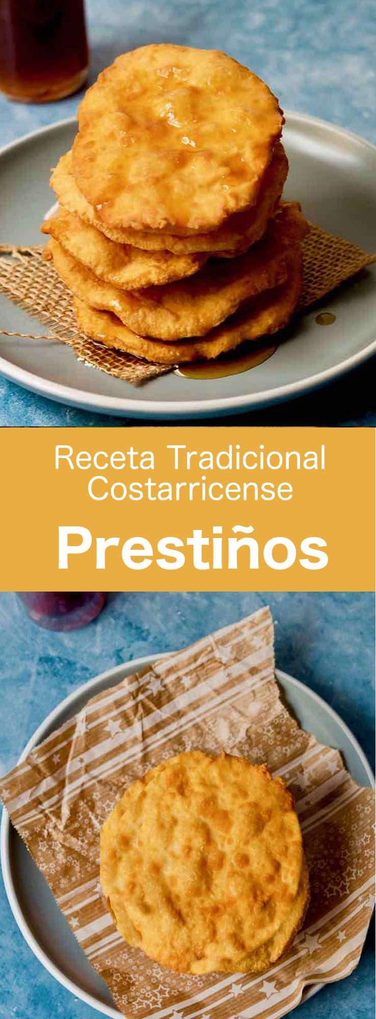 Los prestiños son dulces tradicionales costarricenses que consisten en una masa delgada y frita, y un jarabe de tapa de dulce (panela).