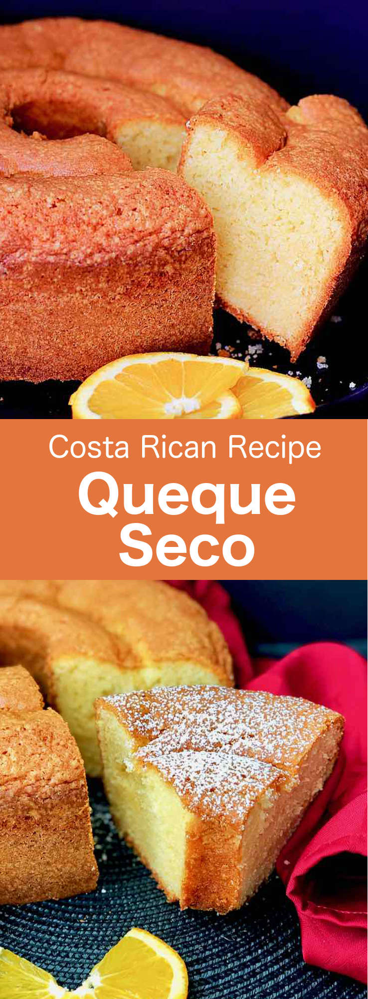 Queque seco is a delicious fluffy, orange-flavored cake that is popular in Costa Rica as well as many Latin American countries. #CostaRica #CostaRicanCuisine #CostaRicanFood #CostaRicanRecipe #WorldCuisine #196flavors