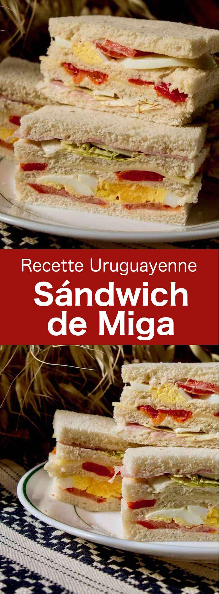 Le sándwich de miga (ou sándwich olímpico) est un délicieux sandwich à plusieurs couches très populaire en Uruguay, en Argentine et au Chili. #Uruguay #Argentine #Chili #RecetteUruguayenne #RecetteArgentine #RecetteChilienne #CuisineUruguayenne #CuisineArgentine #CuisineChilienne #WorldCuisine #196flavors