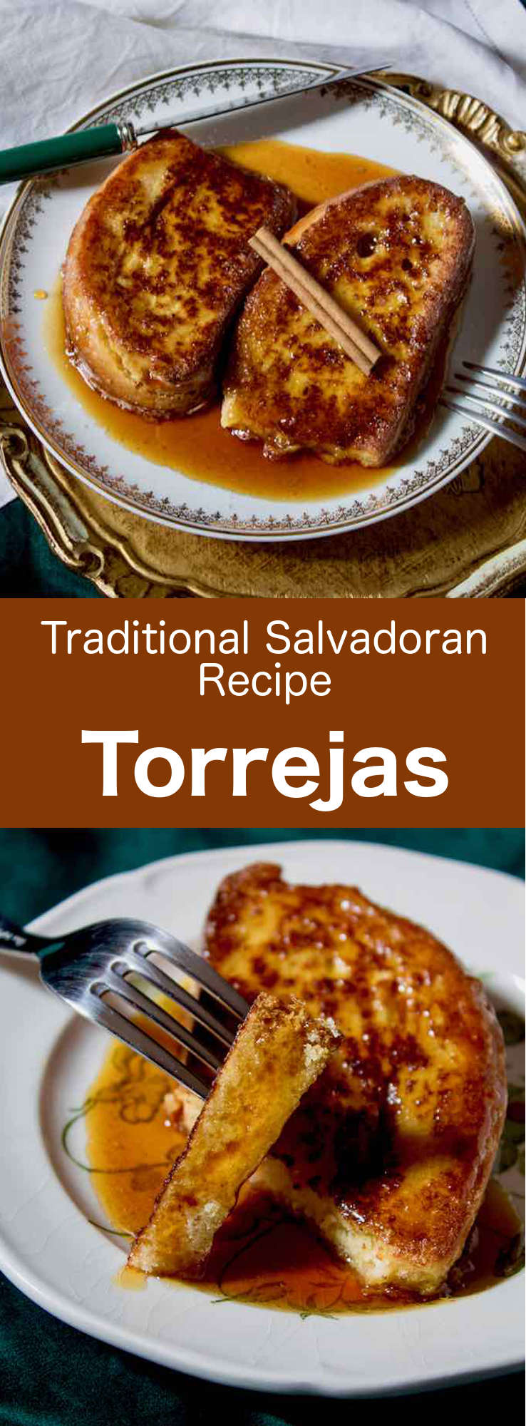 Torrejas are the delicious Latin American version of the French toast. They are traditionally served with panela syrup and various spices. #CentralAmericanCuisine #CentralAmericanRecipe #SalvadoranCuisine #SalvadoranRecipe #WorldCuisine #196flavors