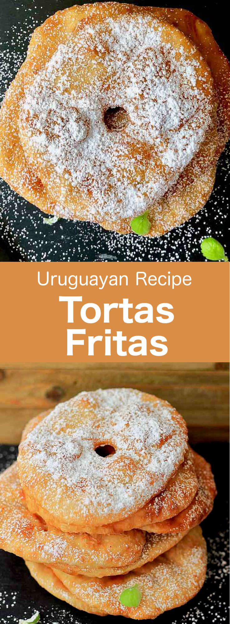 Tortas fritas are popular fried breads in Uruguay and Argentina where it is traditional to savor them on a rainy afternoon with yerba mate tea. #UruguayanRecipe #UruguayanFood #UruguayanCuisine #ArgentinianRecipe #ArgentinianFood #ArgentinianCuisine #LatinCuisine #LatinFood #LatinRecipe #WorldCuisine #196flavors