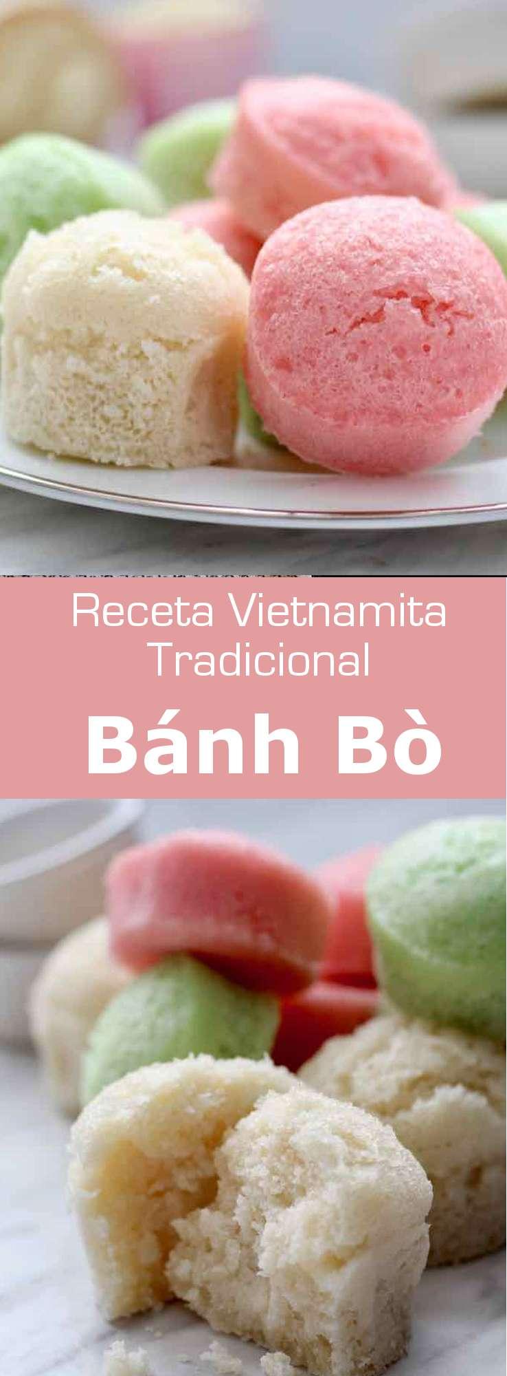 El bánh bò es un tipo de bizcocho cocido al vapor, hecho con harina de arroz, que es originario del sur de China y es popular en Vietnam.