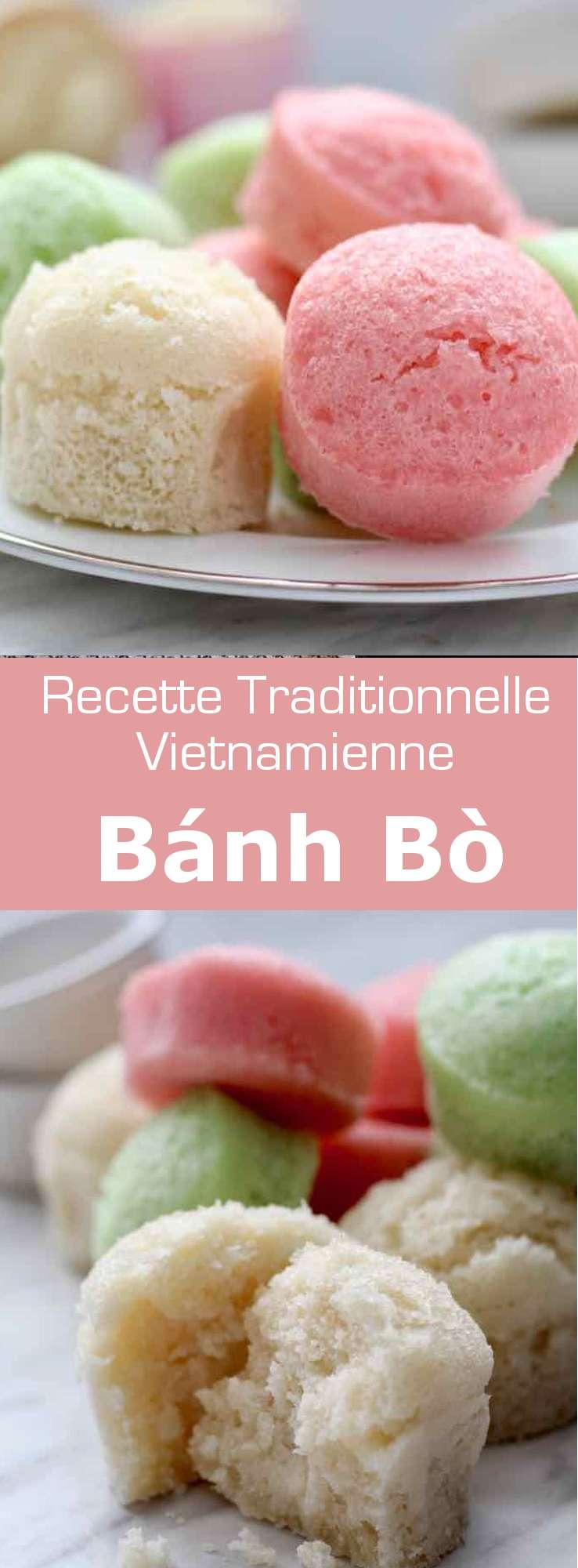 Le bánh bò est une sorte de génoise cuite à la vapeur, à base de farine de riz originaire du sud de la Chine et populaire au Vietnam. #Vietnam #RecetteVietnamienne #CuisineVietnamienne #CuisineAsiatique #RecetteAsiatique #CuisineDuMonde #196flavors