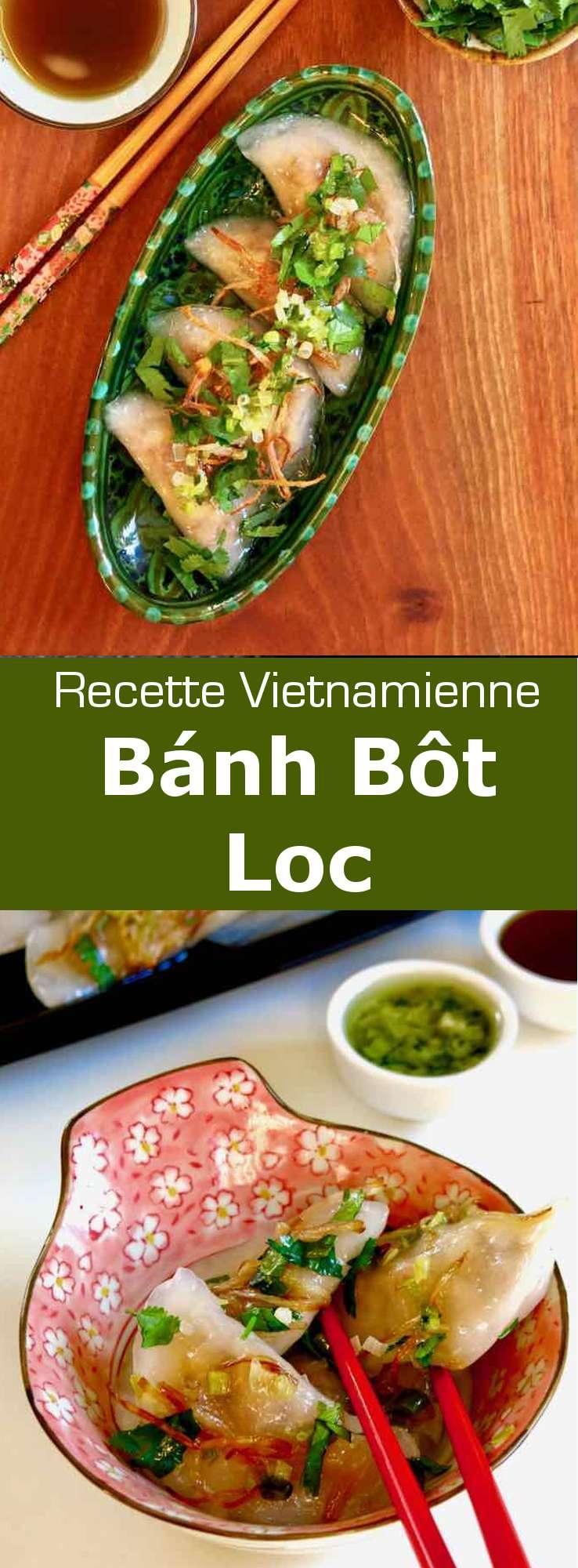 Les bánh bột lọc sont des pâtes de tapioca translucides de la cuisine vietnamienne. Elles sont garnies de crevettes et de poitrine de porc. #Vietnam #RecetteVietnamienne #CuisineVietnamienne #CuisineAsiatique #RecetteAsiatique #CuisineDuMonde #196flavors