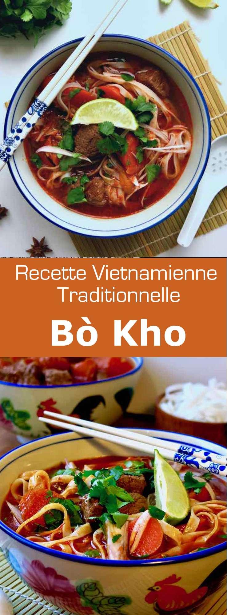 Le bò kho est un délicieux un plat mijoté de bœuf épicé, populaire au Viêt Nam. Ce ragoût est servi avec des nouilles de riz. #Vietnam #RecetteVietnamienne #CuisineVietnamienne #CuisineAsiatique #RecetteAsiatique #CuisineDuMonde #196flavors