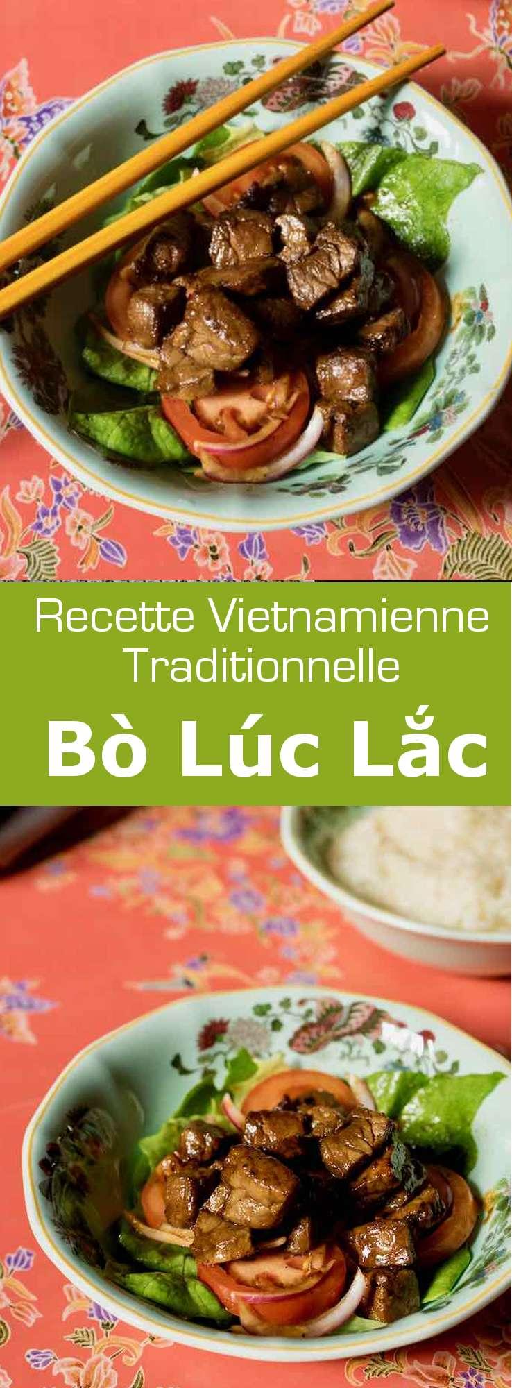 Le bò lúc lắc est un plat populaire du Vietnam à base de viande de bœuf marinée et sautée et servie avec une garniture de salade et de riz. #Vietnam #RecetteVietnamienne #CuisineVietnamienne #CuisineAsiatique #RecetteAsiatique #CuisineDuMonde #196flavors