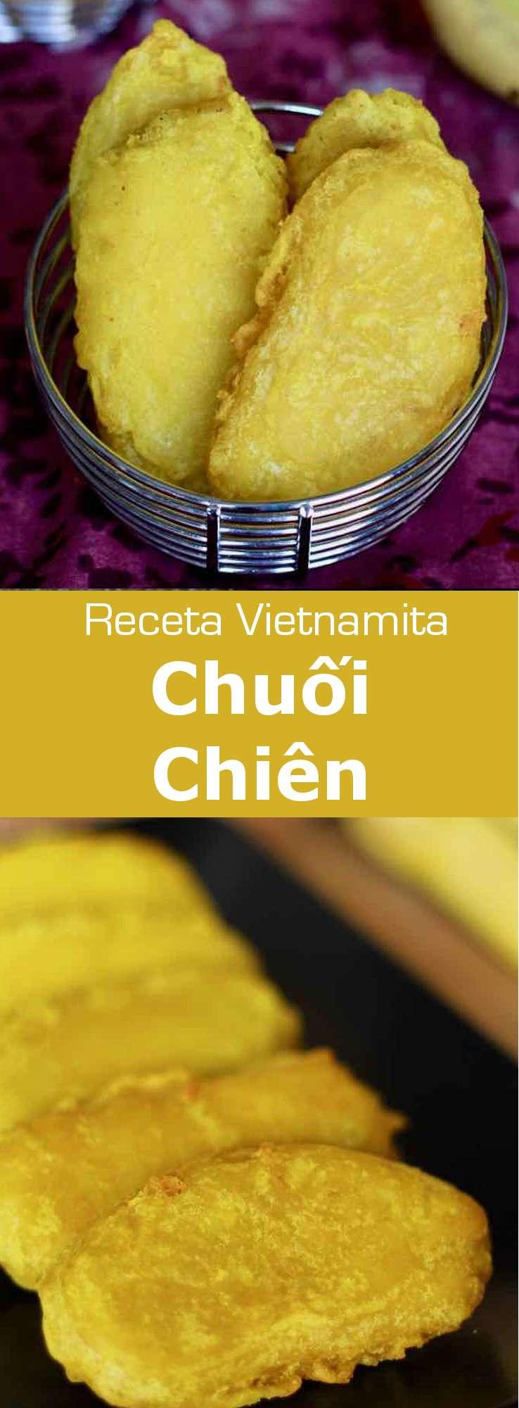 Los chuối chien son deliciosos mini-bananas sumergidas en una pasta de harina de arroz y fritas, típicas de la cocina vietnamita.