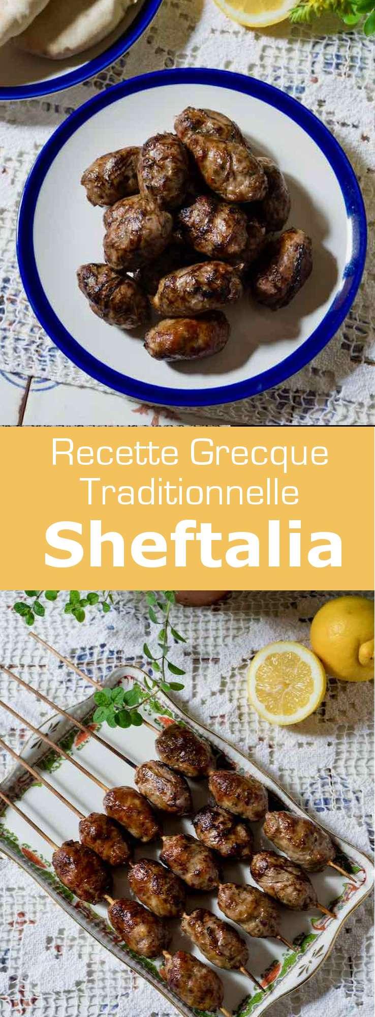 La sheftalia (ʃeftaˈʎa) est une saucisse traditionnelle chypriote à base d'agneau et de porc, enveloppée dans de la crépine et cuite au barbecue. #Chypre #Grece #RecetteChypriote #RecetteGrecque #CuisineGrecque #CuisineChypriote #CuisineMediterraneenne #CuisineDuMonde #196flavors