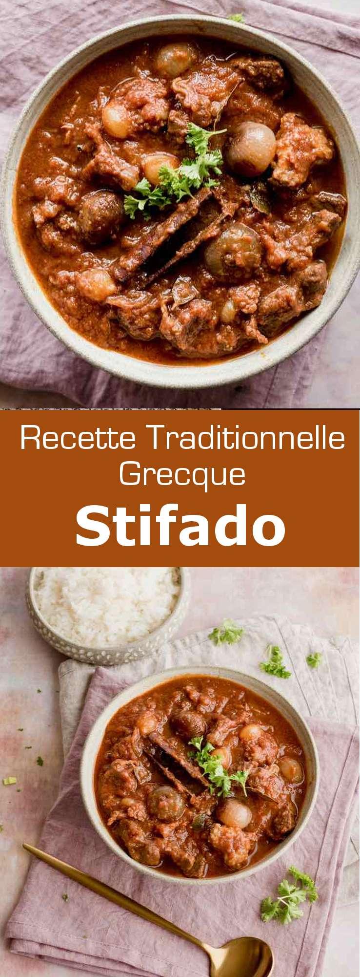 Le stifádo (στιφάδο) est un des plats les plus emblématiques de la cuisine grecque qui peut être comparé à un bœuf bourguignon. #Grece #RecetteGrecque #CuisineGrecque #CuisineMediterraneenne #CuisineDuMonde #196flavors