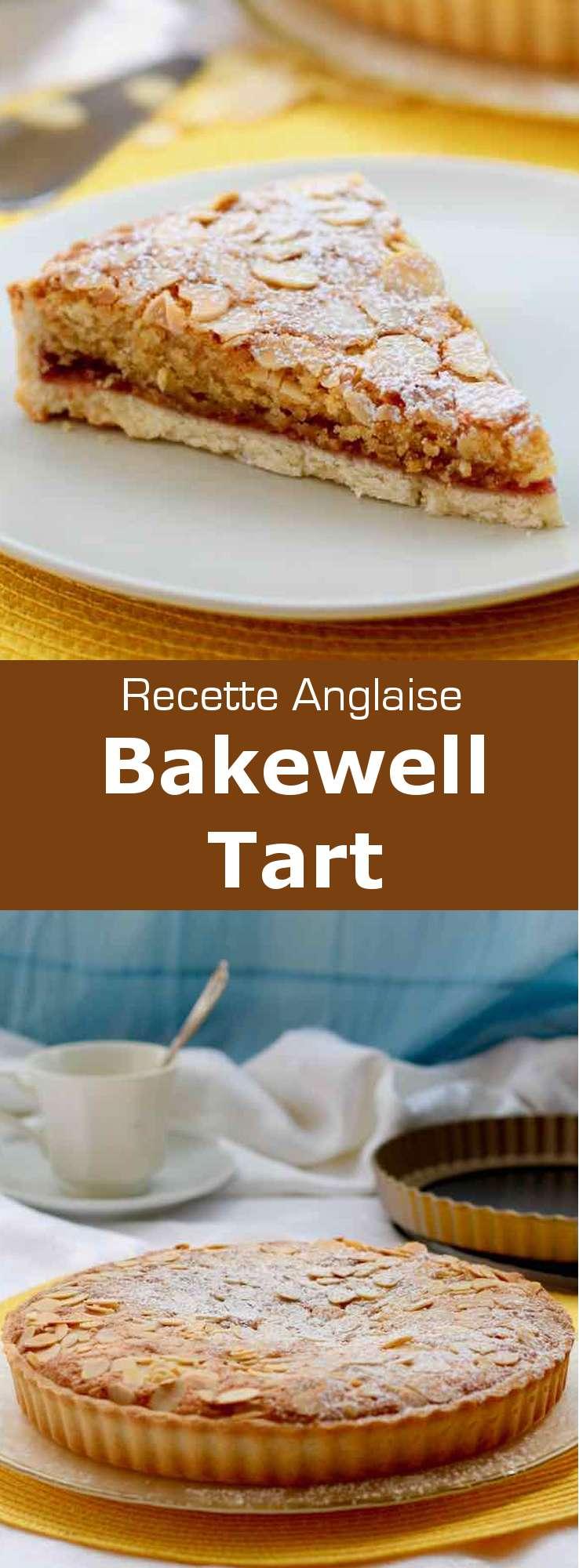 La tarta Bakewell es una tarta deliciosa con mermelada de frambuesa y franchipán. Es una receta clásica tradicional de Inglaterra.