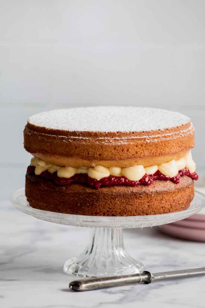 Victoria sponge cake authentique