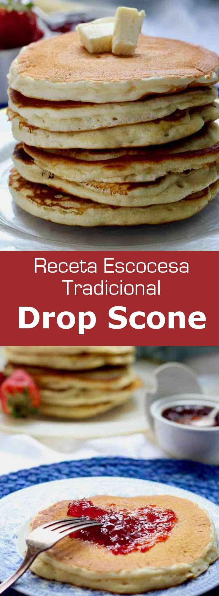 Los drop scones son una variante de los scones tradicionales escoceses. Se cocinan en una sartén y también se conocen como panqueques escoceses.