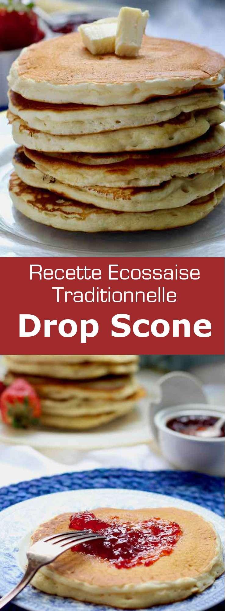 Le drop scone est une variante du scone écossais traditionnel. Il est cuit à la poêle et est également connu sous le nom de pancake écossais. #RoyaumeUni #Angleterre #RecetteAnglaise #RecetteBritannique #CuisineAnglaise #CuisineBritannique #CuisineDuMonde #196flavors