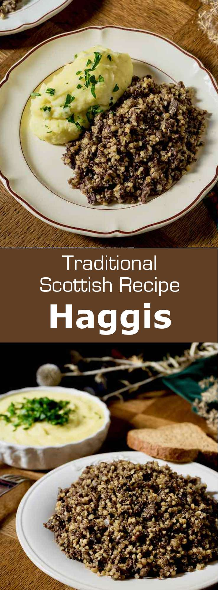 Haggis is a traditional Scottish dish consisting of seasoned and spiced minced sheep's pluck cooked in the animal stomach. #UnitedKingdom #Scotland #ScottishCuisine #EnglishCuisine #BritishCuisine #ScottishFood #EnglishFood #BritishFood #ScottishRecipe #EnglishRecipe #BritishRecipe #WorldCuisine #196flavors