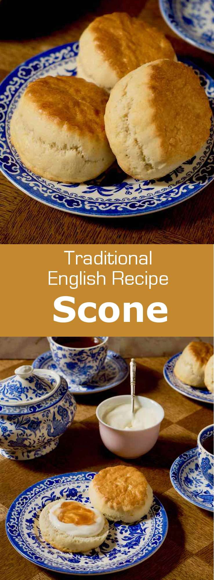 A scone is a delicious traditional British roll that is often served at tea time, along with jam and clotted cream. #UnitedKingdom #EnglishCuisine #BritishCuisine #EnglishFood #BritishFood #EnglishRecipe #BritishRecipe #WorldCuisine #196flavors