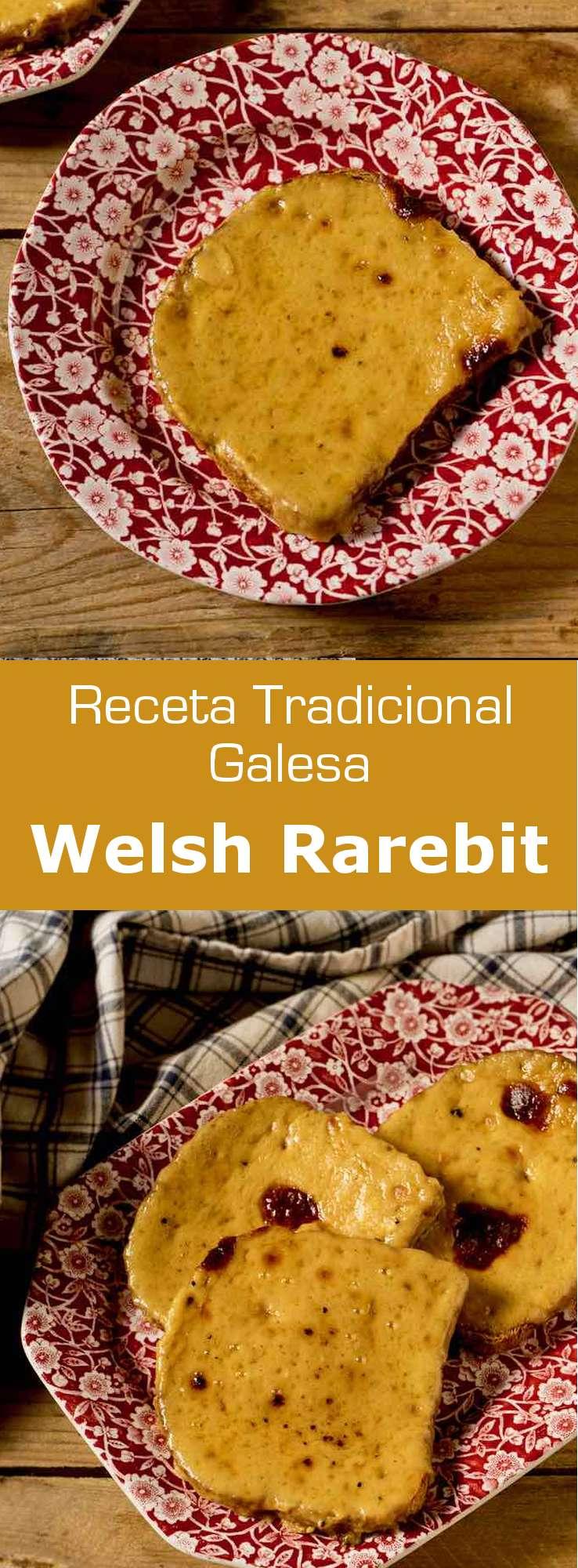 El Welsh rarebit o Welsh rabbit es un plato galés preparado con queso cheddar, mostaza y cerveza, que tradicionalmente se sirve en una rebanada de pan tostado a la parrilla.