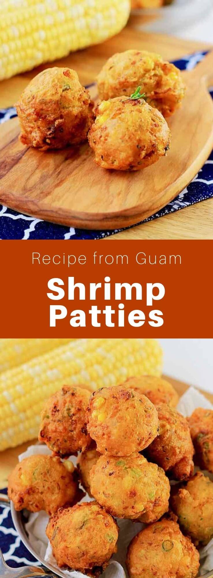 Buñelos uhang are delicious fried shrimp patties prepared with green beans, corn and peas, that are popular on the island of Guam. #Guam #GuamFood #GuamRecipe #GuamCuisine #Chamorro #ChamorroCuisine #ChamorroFood #ChamorroRecipe #WorldCuisine #196flavors