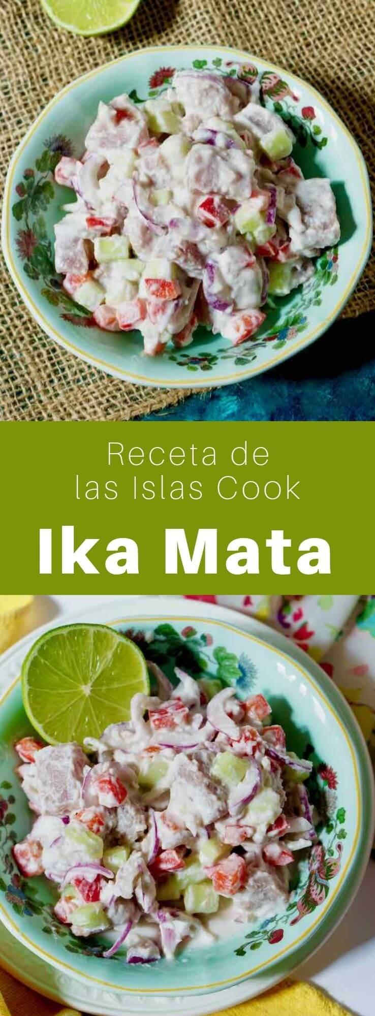 El ika mata es un famoso plato tradicional de las Islas Cook, hecho con pescado crudo marinado en lima y leche de coco.