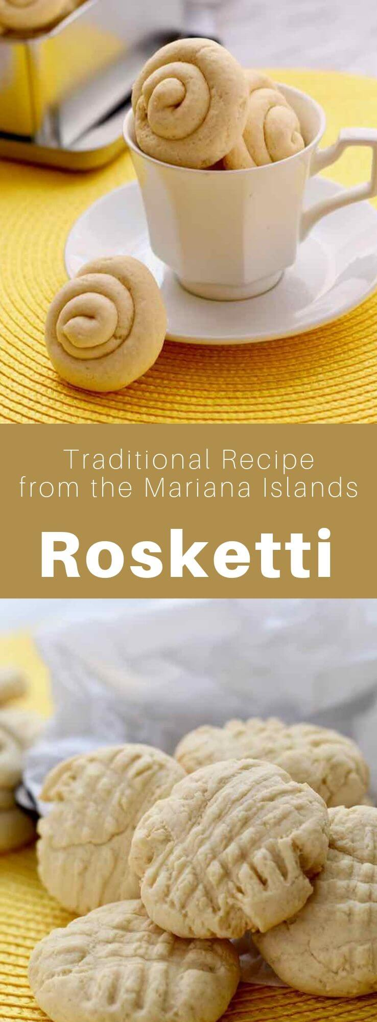 Rosketti (or rosketi) are delicious traditional shortbread biscuits from the island of Guam that are prepared with cornstarch. #MarianaIslands #Guam #Chamorro #SouthPacific #WorldCuisine #196flavors