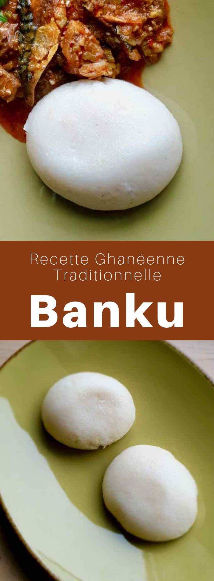 Le banku est une recette ghanéenne traditionnelle connue pour son goût acide, qui provient de plusieurs jours de fermentation du maïs pour en faire une pâte de maïs. #Ghana #Afrique #AfriqueDeLouest #RecetteAfricaine #CuisineAfricaine #CuisineDuMonde #196flavors