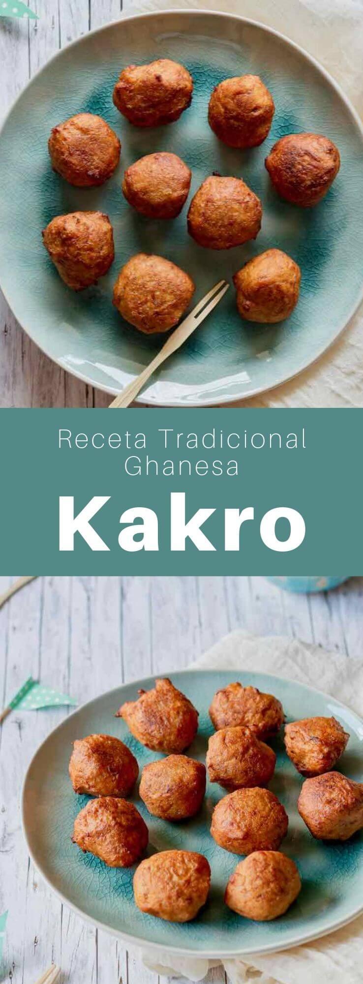 El kakro (o kaklo) es un delicioso tentempié frito, tradicional de Ghana, que consiste en unos buñuelos de plátano muy maduro.
