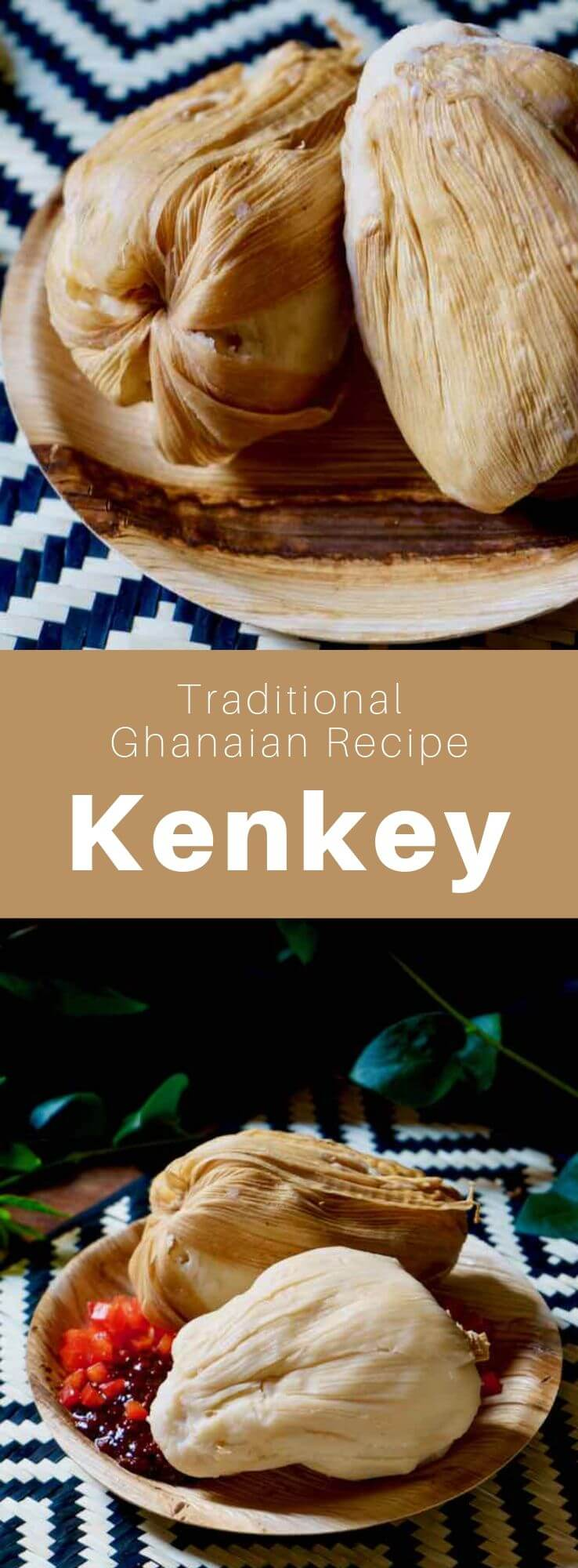 Kenkey is a traditional Ghanaian dish made from fermented white corn consumed by Ga people who call it komi and the Fante people who call it dokono. #Ghana #GhanaianCuisine #GhanaianFood #GhanaianRecipe #AfricanCuisine #AfricanFood #AfricanRecipe #WorldCuisine #196flavors