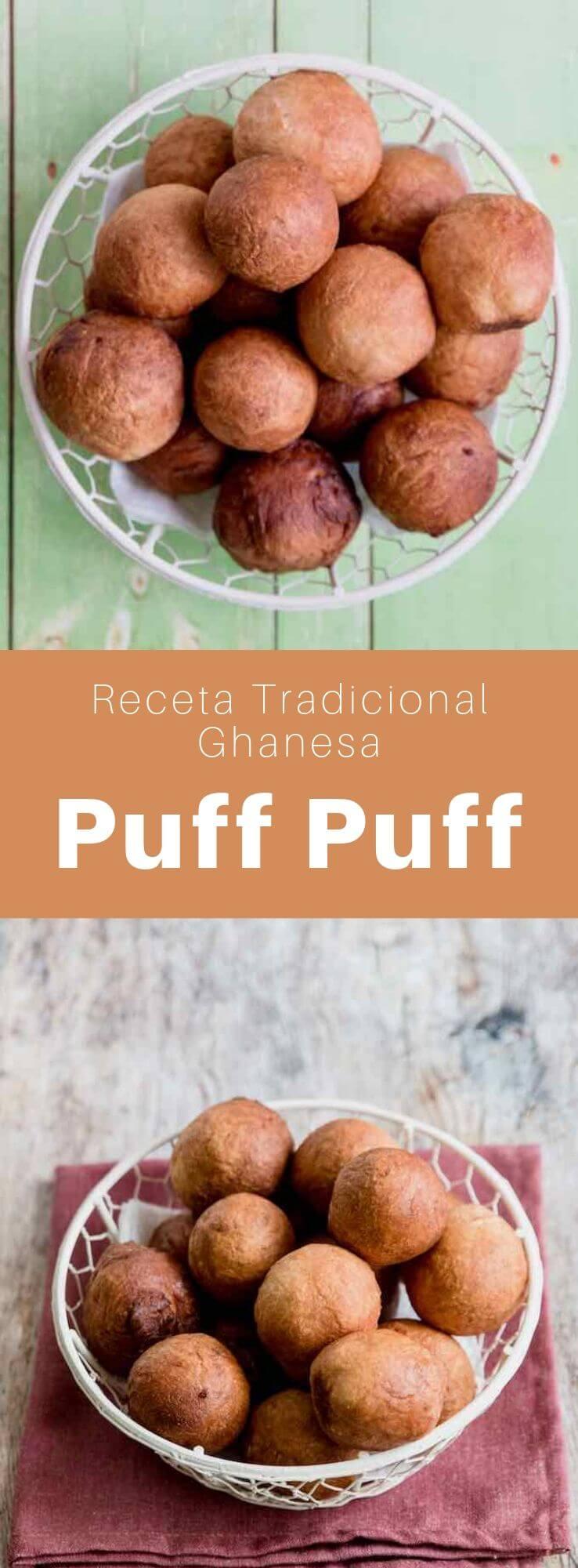El puff puff, también conocido como bofrot, kala, mikate o togbei, es un donut popular de África occidental, especialmente de Ghana, Sierra Leona, Camerún y Nigeria.