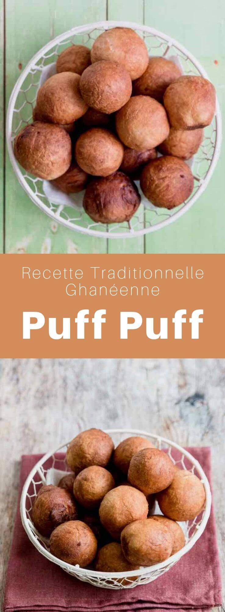 Le puff puff, appelés aussi bofrot, kala, mikate, ou togbei est un beignet populaire en Afrique de l'Ouest comme au Ghana, à la Sierra Leone, au Cameroun, et au Nigeria. #Ghana #Afrique #AfriqueDeLouest #RecetteAfricaine #CuisineAfricaine #CuisineDuMonde #196flavors