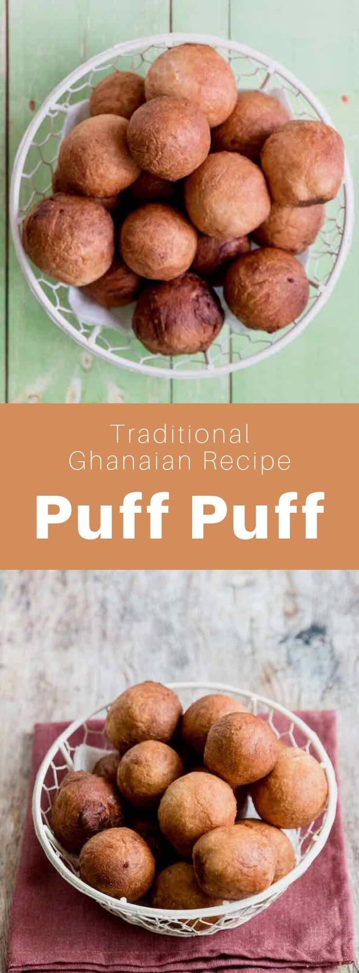 Puff puff, also known as bofrot, kala, mikate, or togbei is a popular donut in West Africa, especially in Ghana, Sierra Leone, Cameroon, and Nigeria. #Ghana #GhanaianCuisine #GhanaianFood #GhanaianRecipe #NigerianRecipe #SierraLeoneRecipe #CameroonRecipe #AfricanCuisine #AfricanFood #AfricanRecipe #WorldCuisine #196flavors