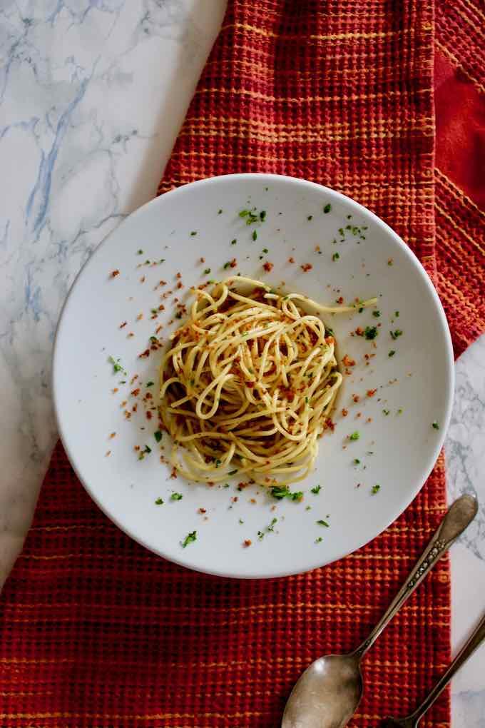 spaghetti alla bottarga italiennes