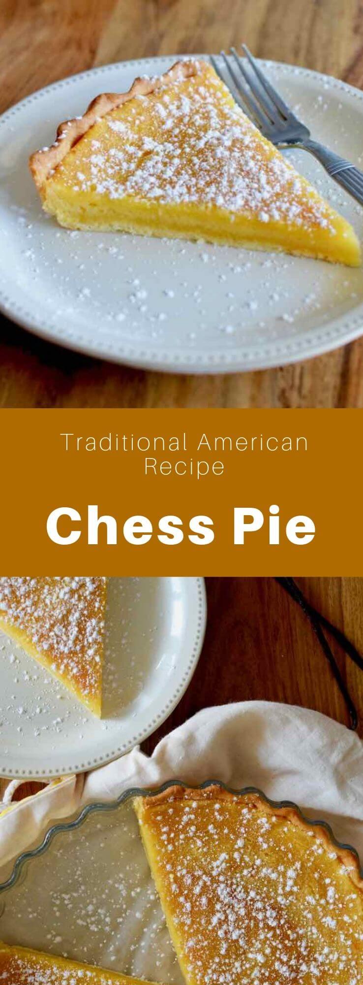 El chess pie es una de las tartas sureñas más tradicionales de Estados Unidos. Contiene principalmente, un relleno cremoso y aromatizado con vainilla.
