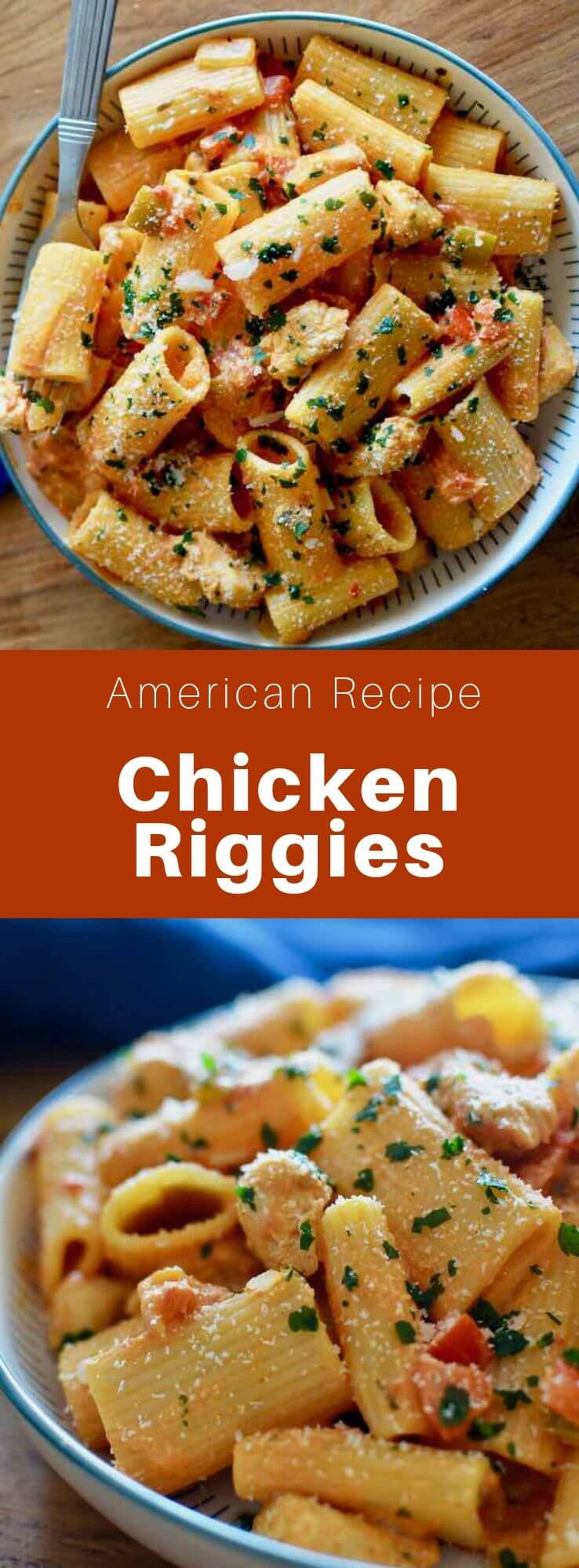 Chicken riggies (or Utica riggies) is a spicy Italian-American chicken rigatoni dish with a creamy tomato sauce, that is very popular in the state of New York. #AmericanRecipe #AmericanFood #AmericanCuisine #WorldCuisine #196flavors