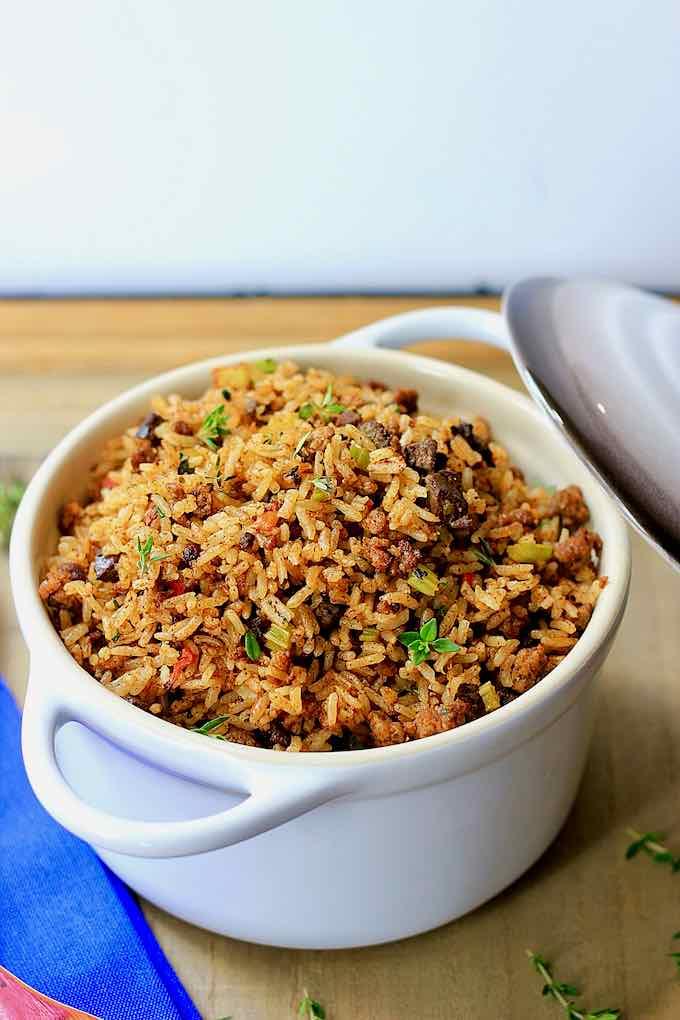 arroz sucio
